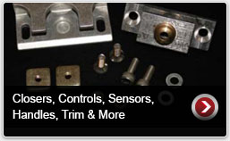 Closers, Controls, Sensors, Handles, Trim, and More